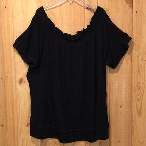 Lane Bryant black short sleeved top size 18/20